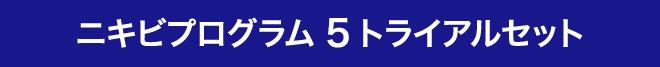 ニキビプログラム5トライアルセット