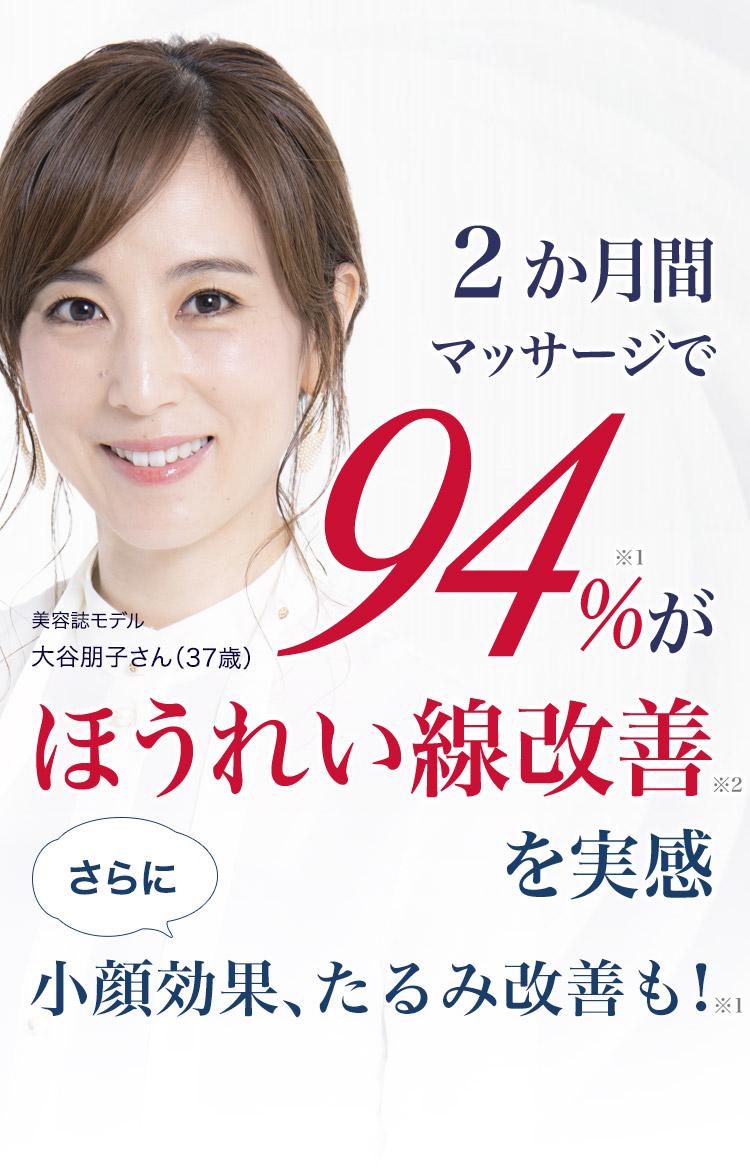 2ヶ月間マッサージで94%がほうれい線改善を実感 さらに小顔効果、たるみ改善も