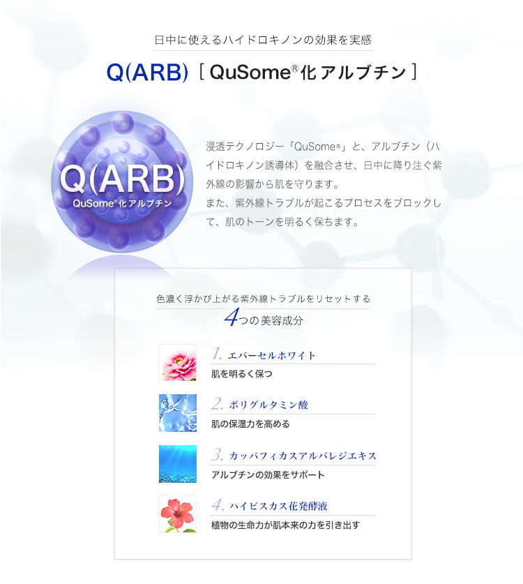 Q(ARB) QuSome化アルブチン